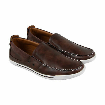 efe8e8aa3c16 Mens Kenneth Cole Unlisted Press Loafer Size 10.5 Brown Leather Slip-On  Shoes