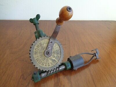 Antique Swedish Bobbin Winder f Weaving And Mattson Mora Sweden