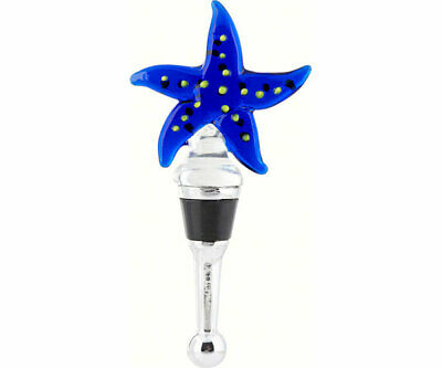 Blown Glass Sea Creatures Bottle Stopper -  Starfish   - Bs 091