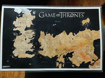 GAME OF THRONES Westeros world map poster HBO official 11x17