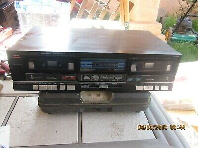 "Fisher Studio Standard CR-W49 Double Reverse Stereo Cassette Deck ""NICE"" WORKS"