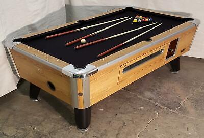 Valley Cougar Comm Bar Size 7' Coin-Op Pool Table  Zd-6  Refurbished In Black