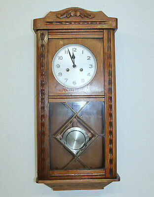 *Antique Wall Clock Chime Clock Regulator 1920th century*PFEILKREUTZ*