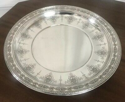 "Towle Sterling Louis XIV Centerpiece Tray Plate Buffet Bowl, 14"" Diam, 1919"