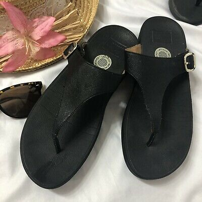afd30b3a500f FITFLOP MICRO WOBBLE Board Clogs Mules Slip On Black Shoes Size UK 6 ...