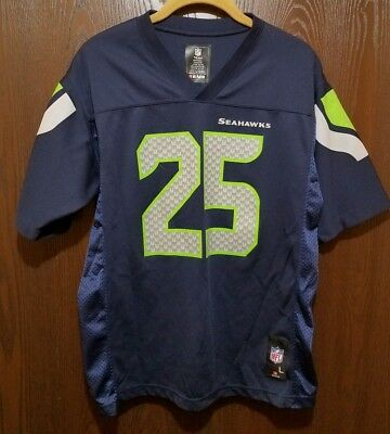 Wholesale NIKE YOUTH LARGE Sherman Seattle Seahawks 25 Jersey Football #16