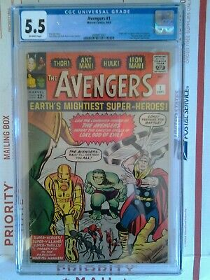 Avengers #1 1963 Cgc 5.5 Marvel Mega Key 1St Appearance Silver Age Solid Copy