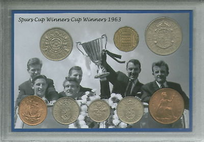 Tottenham Hotspur Spurs Vintage European Cup Winners Retro Coin Gift Set 1963