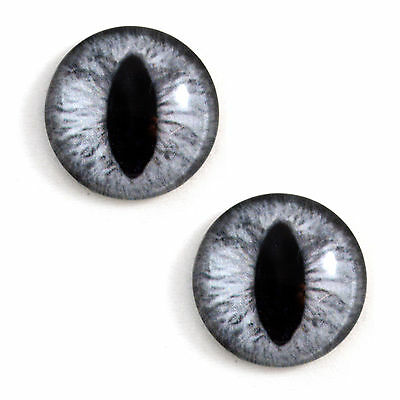 Pair of 30mm Sparkling Pink Glass Eyes for Jewelry or Doll Making
