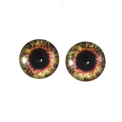 40mm Sockeye Salmon Fish Glass Eyes for Sculptures Jewelry Making or Taxidermy