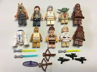 Han Chewy,C3po R2 Luke LEGO Star Wars Minifigure LOT Endor Soldiers Leia