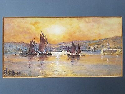 Arthur Suker watercolour painting Cornwall St Ives signed british listed artist