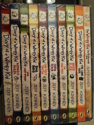 BRAND NEW & SEALED DIARY OF A WIMPY KID BOX SET 10 Books
