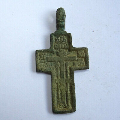 Medieval Ancient Artifact Bronze Cross