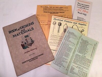 "Vintage 1925-1926 ""Art Fibre Weaving""  Book of Designs & Materials -Cool WICKER"