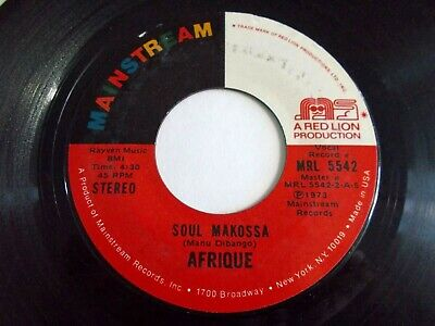 Afrique Soul Makossa / Hot Mud 45 1973 Mainstream Vinyl Record