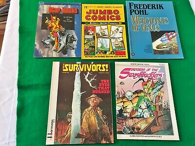 Vintage Mixed Lot of Graphic Comics and Novels Star Hawks Marvel and More