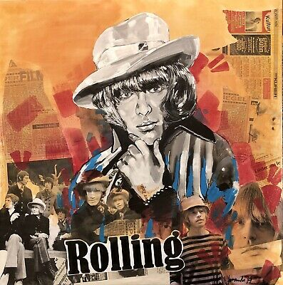 Brian Jones Art , Acrilic On Canvas , The Rolling