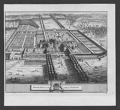 1700 - Brome Hall Suffolk garden England United Kingdom engraving view