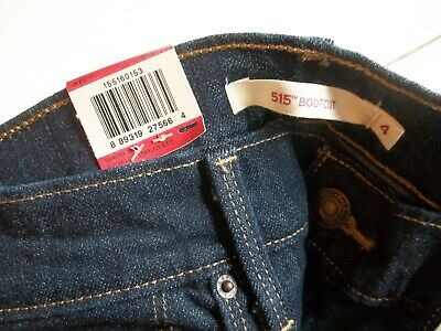 a0cb843b Levis 515 Womens Boot Cut Jeans Styled Night Fall Mid Rise size 4 NEW