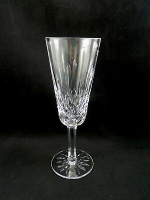 Waterford Crystal  Champagne Toasting Flute Lismore seahorse mark  minor flaw