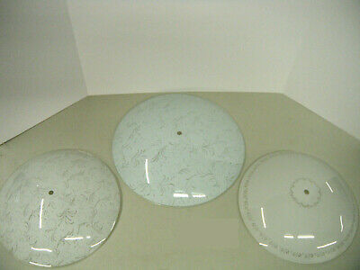 Lot of 3 - Vintage glass ceiling light shades