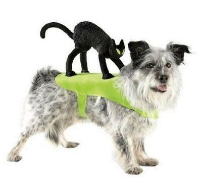 BLACK CAT Pet Dog Rider Pet Costume Size S/M