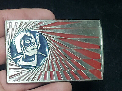 Very Rare Vintage Cigarette Zig Zag Belt Buckle Amazing Piece Free Shipping!!!
