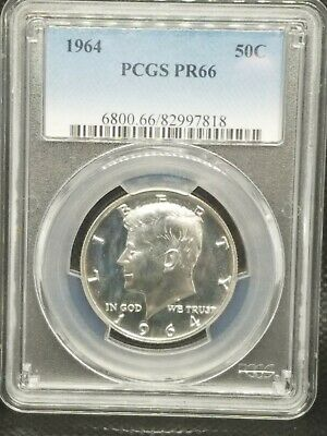 1964 Proof Kennedy Silver Half Dollar - Accented Hair Variety - Proof 66 PCGS