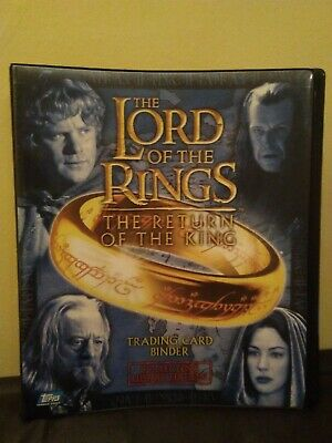 Lord Of The Rings Return Of The King collectors update edition Topps Binder