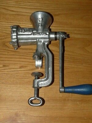 Vtg Antique No 5 SPONG Chopper Meat Grinder - Made in England