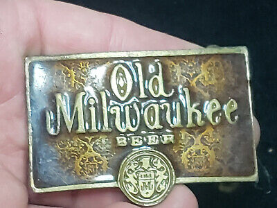 Very Rare Vintage Old Milwaukee Beer Belt Buckle Amazing Piece Free Shipping!!!