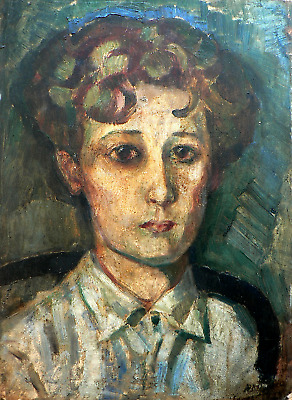 Fabulous impressionist early 20th Century portrait (French)