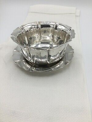 Sterling Silver M Monogrammed Dish With Saucer