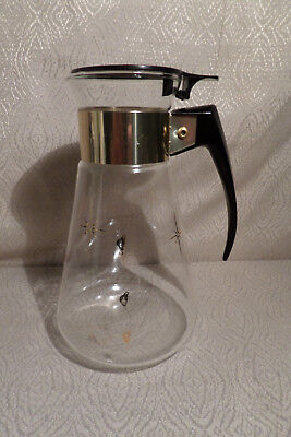 1960'S MAXWELL HOUSE COFFEE MAKER CORNING STARBURST ATOMIC POT 8 Cup