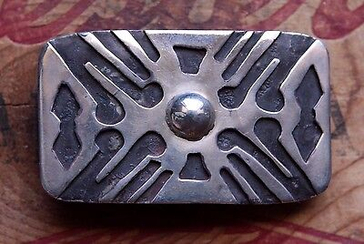 Vintage Sterling Silver Hand Made Western Belt Buckle