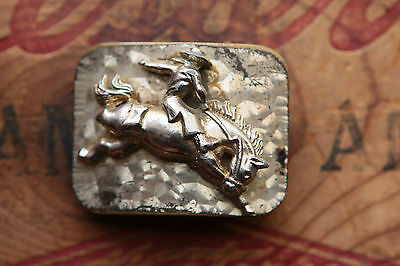"Vintage Small Cowboy Rodeo Western Belt Buckle for 1"" wide belt"