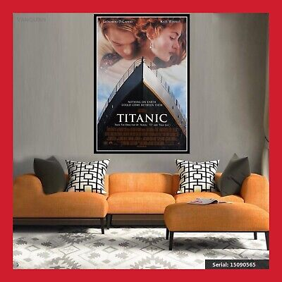 Toile Affiche Cinema Us Movie Film Poster Photo Titanic Di Caprio Winslet Dvd