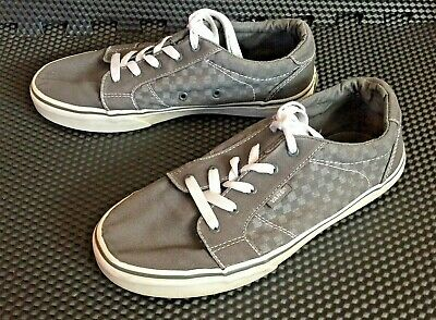 17d9f53b15 VANS Bishop Skater Sz 6 Gray Checkerboard Lace up Mens Youth Boys Sneaker  Shoes