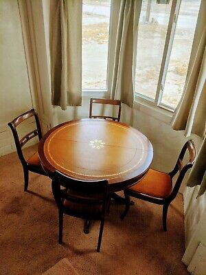 "VINTAGE TABLE WITH 6 CHAIRS French Art Deco 1930s ""Le Paradis Cacher"""