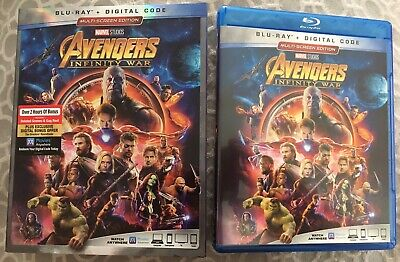 Avengers: Infinity War (Blu-ray, 2018), With Slipcover, No Digital