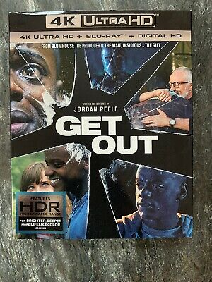Get Out - 4K UHD - 4K & Blu-Ray Only - With Slipcover - No Digital - Like New
