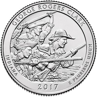 2017  George Rogers Clark Historical Park (Indiana) P,d & S Set ****in Stock****