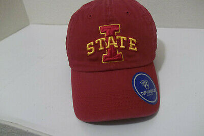 online store 28b10 986e6 New Ncaa Top Of The World Iowa State Cyclones Adjustable Solid Crew Hat Cap  Nwt