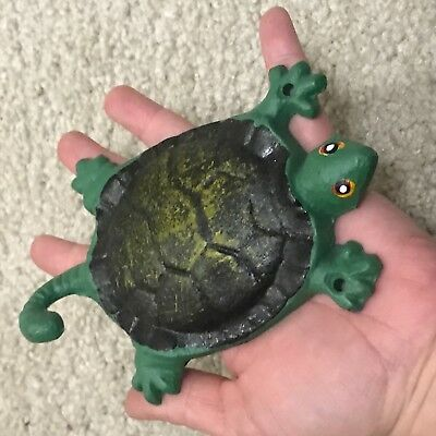 Painted turtle cast iron wall hook jewelry holder home decor organizer