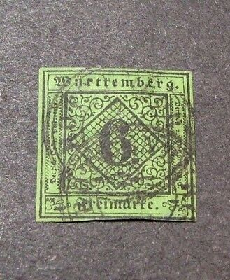 Germany Wurttemberg Scott# 4  Numeral 1851-52 C408