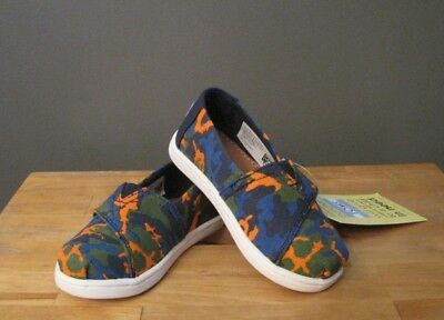 3c57920719b Toms Toddler Boy Navy Multi Camo Classic Shoes US 6 Tiny NWB