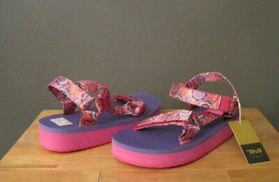 c41e47e134d Teva Little Kid Girl Pink Multi Flower Hi-Rise Universal Sandals US 13