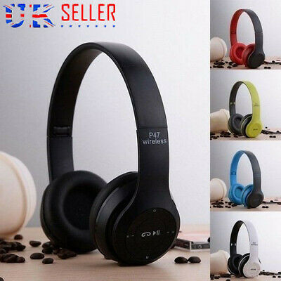 Wireless Bluetooth FM/AUX Over-Ear Headphone Headset w/ mic for Tablet/iPhone Ho
