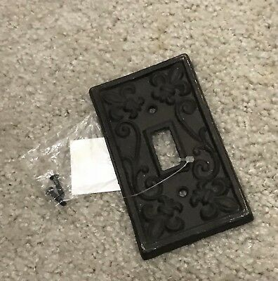 Cast Iron Fluer De Lis light switch cover wall plate rustic home decor accents